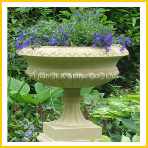 Marble Stone Carved Plant Pot for Garden Decor