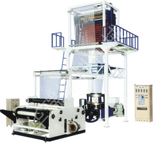 Blown High or Low Density PE Film Extruder with Double Rewinding Traction Machine