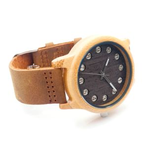New Environmental Protection Japan Movement Wooden Fashion Watch Bg454 pictures & photos