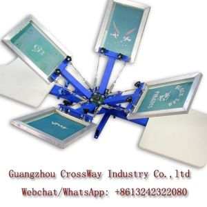 Two Color Silk Screen Printing Equipment for Garment Tshirts