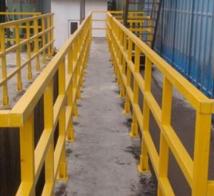 FRP Handrail/Building Material/Fiberglass Ladder/Hall Ladder pictures & photos