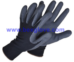 13 Gauge Nylon Liner, Nitrile Coating, Sandy Finish Safety Gloves pictures & photos