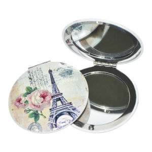Made in China Paris Souvenir Metal Pocket Mirror pictures & photos