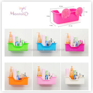 Wall Mounted Plastic Storage Box Shelf Bathroom Rack Shampoo Holder