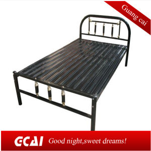 China Low Cost Dormitory Labor Bed Single Metal Bed Frame China