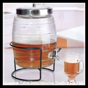 8L Beer Glass Storage Barrel with Faucet / Glass Beverage Dispenser pictures & photos