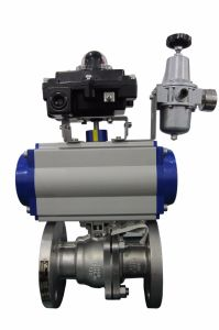 Pneumatic Actuator with Flange Ball Valve (HAT100D) pictures & photos