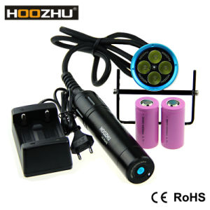 Hoozhu Hu33 Canister Diving Light Waterproof 120m Canister Diving Torch LED Flashlight