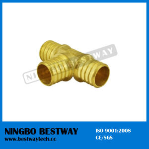 Lead Free Brass Pex Tee Barbed Fitting pictures & photos
