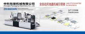 Automatic Paper Box Making Machine (ZK-660AN) pictures & photos
