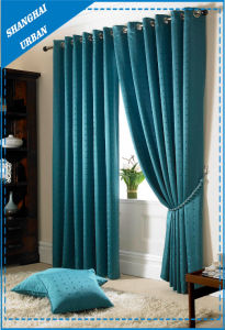 Home Decoration Blackout Lake Green Polyester Window Curtain pictures & photos