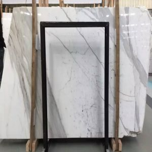 Polished Natural Snow Flower White Marble Slabs From China