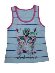 Fashion Kids Girl Vest in Children Clothes & Knit Vest with Cat (SV-012)