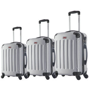 Wholesale ABS 3piece Travel Trolley Luggage pictures & photos