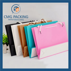 Folded Colorful Kraft Paper Bag for Garment (CMG-MAY-054) pictures & photos