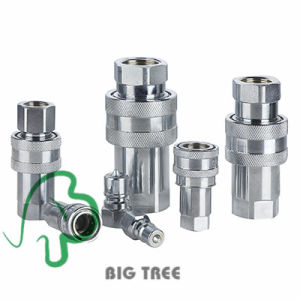 No Leakage Kze Carbon Steel Hydraulic Quick Release Coupler pictures & photos