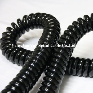 Oil Resistant Flexible PVC Insulated PUR Electric Cable Spiral Cable Coiled Wire Cable
