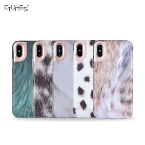 IMD Animal Skin Design Series Slim Shockproof Clear Bumper TPU Soft Rubber Silicone Cover Case for Apple Iphonex