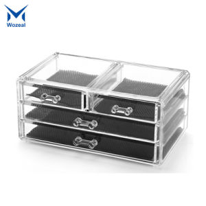 China Acrylic Makeup Cosmetic Jewelry Organizer Clear 4 Drawers