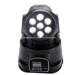 7*15W RGBWA UV 6 in 1 Mini LED Wash Moving Head Light pictures & photos