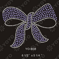 Hot Fix Rhinestone Motif -- Flower (YO-F002)