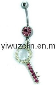 Key Design Belly Ring Button Piercing Body Jewelry (AC47)