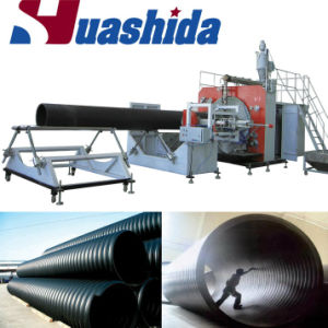 The Steel Reinforced HDPE Winding Drainage Pipe Machine pictures & photos