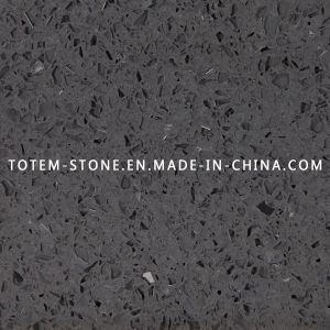 Manmade Grey Artificial Quartz Stone for Slab, Countertop, Tile