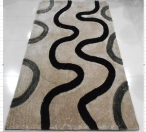 Modern Design Shaggy Polyester Hand-Tufted Carpet (Hill)