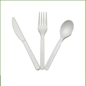 PLA Biodegradable and Compostable Cutlery Spoons Forks Knife Tableware