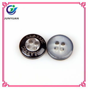 Black Lettering 4holes Protection Resin Button for Shirt pictures & photos