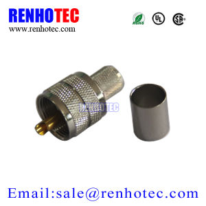 Zinc Alloy Male Gender UHF Conenctor Crimp Cable Rg58 pictures & photos