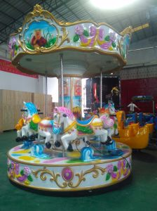Six Players Carousel for Kids Amusement Park Carousel Game pictures & photos
