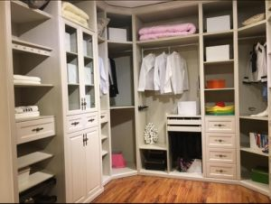 Customized White Walk In Wardrobe Closet Whith Many Colors