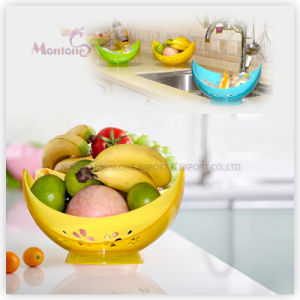 Multifunction Rotatable Plastic PP Fruit/Vegetable Draining Basket pictures & photos