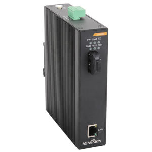 Fiber Industrial Ethernet Network Switch with 2 Gigabit Ports