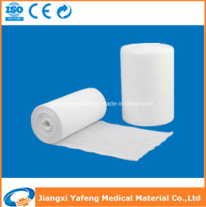 90cmx50m 100% Cotton Absorbent Medical Surgical Hydrophilic Gauze Roll pictures & photos