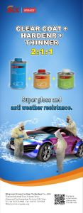 2017 Hot Sales Car Auto Refnish Spray Paint Ms Clearcoat Hardener