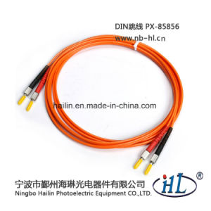Simplex DIN-DIN Om2 Fiber Optic Patch Cord Cable pictures & photos