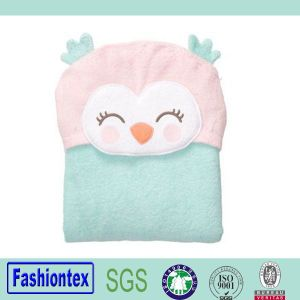 100% Cotton Baby Bathrobe Soft Baby Bath Towel with Hood Printing Kids Swaddle Wrap pictures & photos