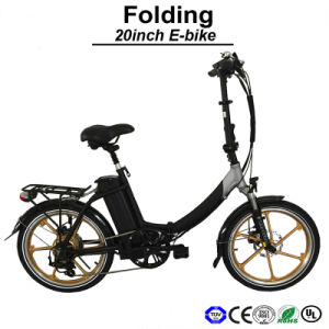 20 Inch Electric Folding Bike with Lithium Battery E Bicycle pictures & photos