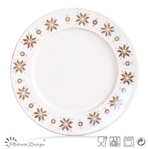 Wholesale Ceramic Silk Screen Dinner Plate pictures & photos