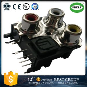 Lotus Flower Receptacle AV Socket with Optical Fiber pictures & photos