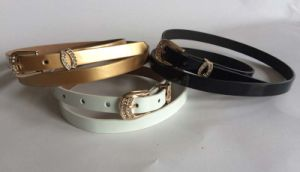 Metal Buckle Skinny Belt Belt for Cloth