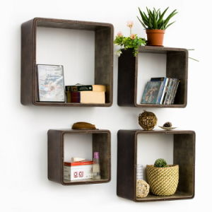 Bedroom Furniture Display Rack Wood Wall Shelf Rack with Gloss Painting (GDS-062) pictures & photos
