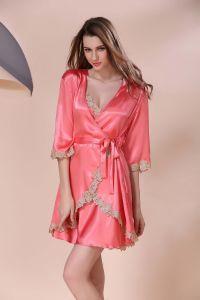 1e5ede201bdd5a Sexy Lingerie Sleepwear Nightwear Women Silk Pajamas SY10308180