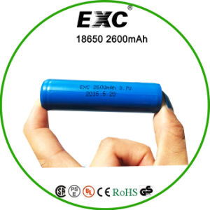 Button Top 3.7V Li-ion Rechargeable Battery Cell Exc 18650 2600 pictures & photos