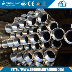 HDG Threaded Round Iron Steel Pipe Tubes with Socket pictures & photos