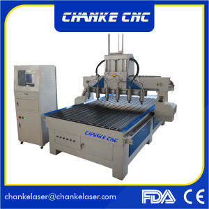 6 Heads 3D CNC Cutting Woodworking Router for MDF Cutting pictures & photos