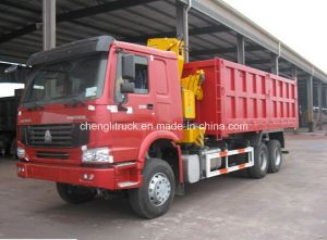 Sinotruk HOWO 6X4 Dump Truck with XCMG 10t Crane pictures & photos